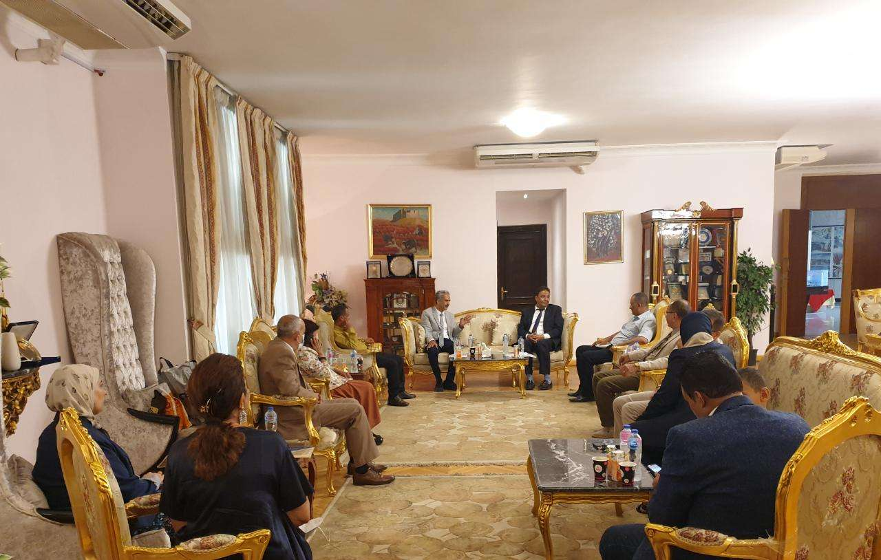 رئيس جامعة تعز يزور جامعة مصر للعلوم والتكنولوجيا