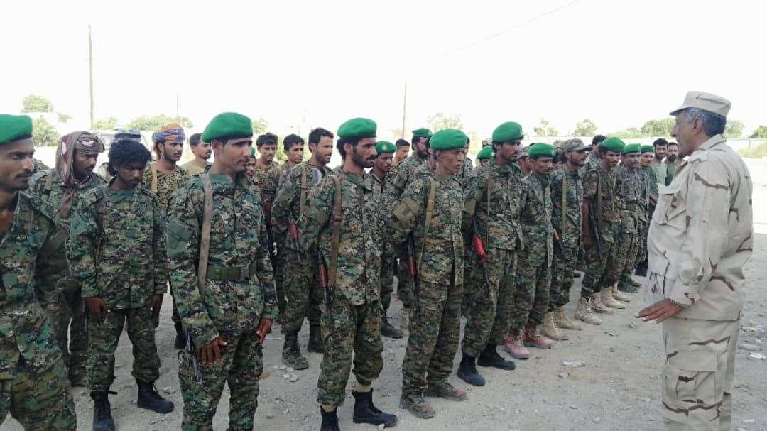 قوات حزام ساحل أبين تقيم عرضا مهيبا للتأهب والجاهزية بالمهام الموكلة