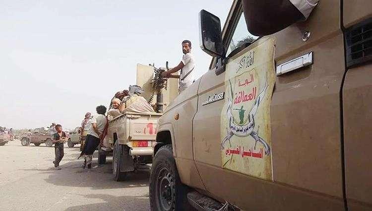 وحدات من الوية العمالقة تصل عدن بعتادها العسكري