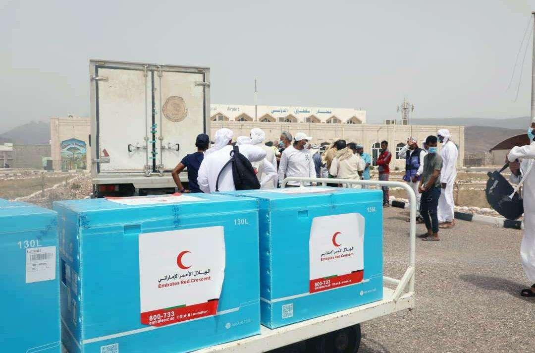 بدعم من الهلال الأحمر الإماراتي تنظيم حملة تطعيم شاملة لجميع سكان الجزيرة