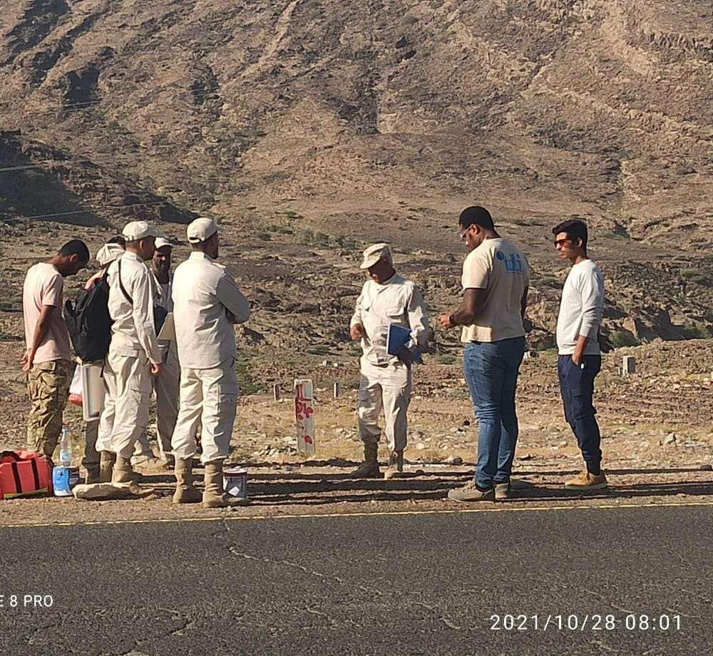نائب مدير الجودة والتدقيق ومنظمة (tdi) يقومان بزيارة ميدانية للفريق الثالث عشر مسح غير تقني العامل في محافظة لحج.