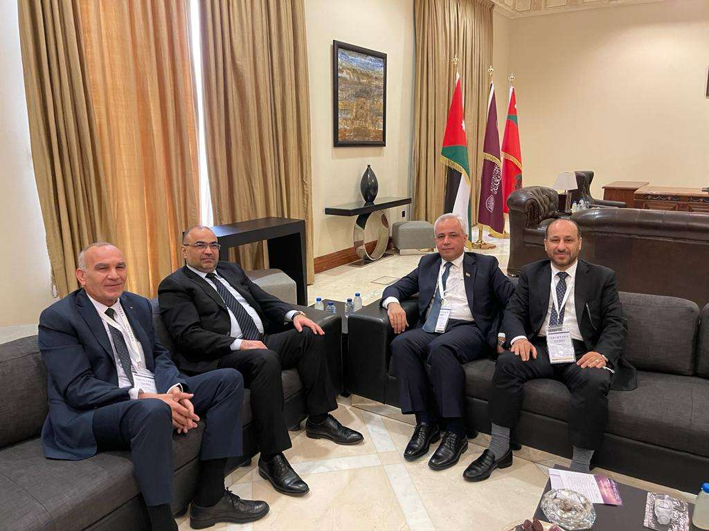 العوج يبحث مع نظيريه العراقي والفلسطيني آفاق التعاون المشترك بمجالات الاتصالات وتكنولوجيا المعلومات